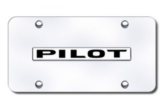 Autogold® - Pilot Name Logo on Chrome License Plate
