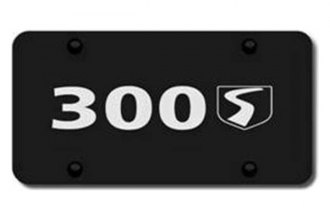 Autogold® - 3D Laser Etched 300S Logo on Black License Plate