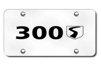 Autogold® - 3D Laser Etched 300S Logo on Chrome License Plate
