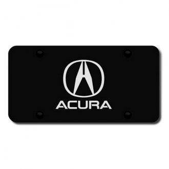 Autogold® - Laser Etched Acura Logo on Black License Plate
