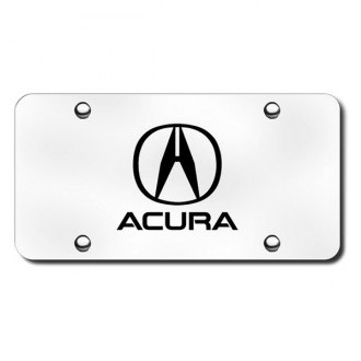Autogold® - Laser Etched Acura Logo on Brushed Stainless License Plate