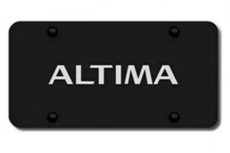 Autogold® - 3D Laser Etched Altima Logo on Black License Plate