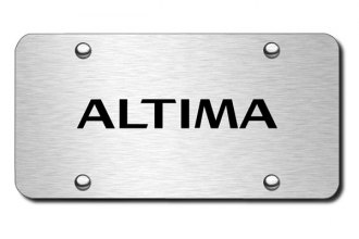 Autogold® - 3D Laser Etched Altima Logo on Chrome License Plate