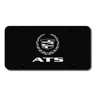 Autogold® - 3D Laser Etched ATS Logo on Black License Plate
