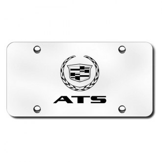 Autogold® - 3D Laser Etched ATS Logo on Brushed Stainless Steel License Plate