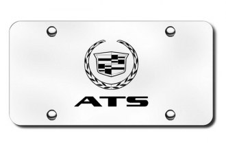 Autogold® - 3D Laser Etched ATS Logo on Chrome License Plate
