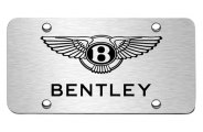 Autogold® - 3D Laser Etched Bentley Logo on Chrome License Plate