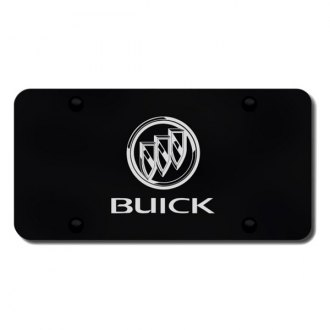 Autogold® - 3D Laser Etched Buick Logo on Black License Plate