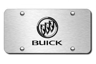 Autogold® - 3D Laser Etched Buick Logo on Brushed Stainless License Plate