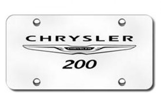 Autogold® - 3D Laser Etched Chrysler 200 Logo on Chrome License Plate