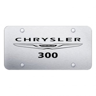 Autogold® - Brushed License Plate with Laser Etched Chrysler 300 Logo