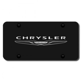 Autogold® - Laser Etched Chrysler Name on Black License Plate