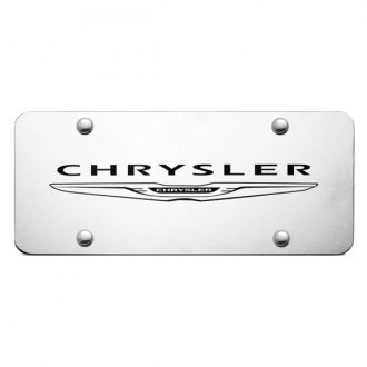 Autogold® - Laser Etched Chrysler Name on Brushed Stainless License Plate