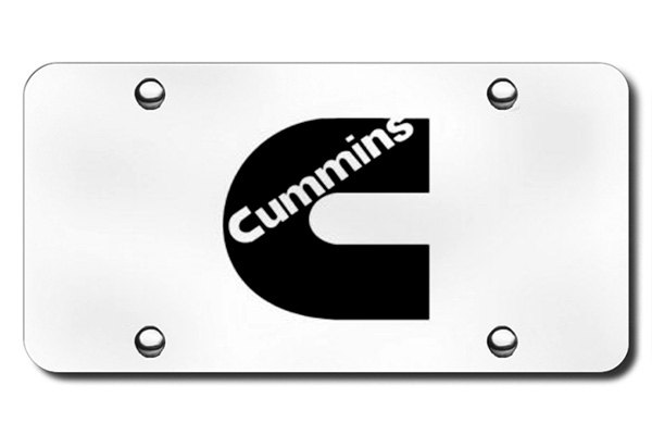Autogold® - 3D Laser Etched Cummins Logo on Chrome License Plate