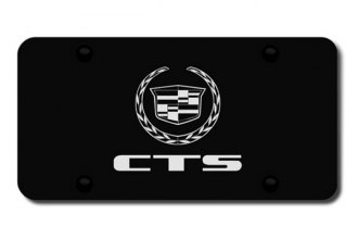 Autogold® - 3D Laser Etched CTS Logo on Black License Plate
