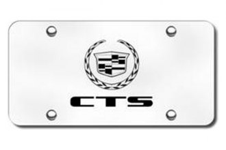 Autogold® - 3D Laser Etched CTS Logo on Chrome License Plate