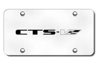 Autogold® - 3D Laser Etched CTS-V Logo on Chrome License Plate