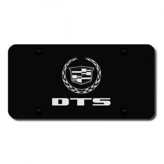 Autogold® - 3D Laser Etched DTS Logo on Black License Plate