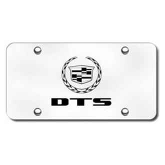 Autogold® - 3D Laser Etched DTS Logo on Brushed Stainless Steel License Plate