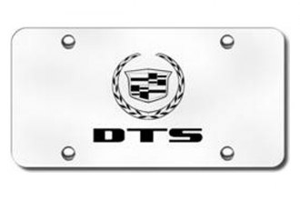 Autogold® - 3D Laser Etched DTS Logo on Chrome License Plate