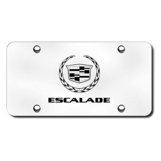 Autogold® - 3D Laser Etched Escalade Logo on Chrome License Plate