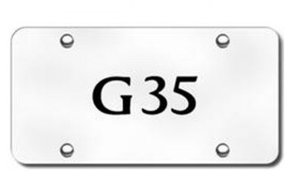 Autogold® - 3D Laser Etched G35 Logo on Chrome License Plate