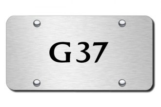 Autogold® - 3D Laser Etched G37 Logo on Chrome License Plate