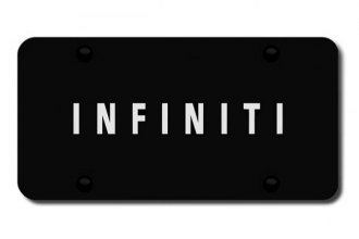 Autogold® - 3D Laser Etched Infiniti Logo on Black License Plate