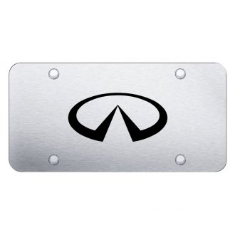 Autogold® - 3D Laser Etched Infiniti Logo on Chrome License Plate