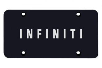 Autogold® - 3D Laser Etched Infiniti Name Logo on Black License Plate