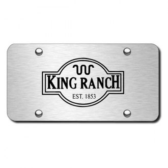 Autogold® - 3D Laser Etched King Ranch Logo on Chrome License Plate