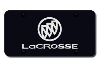 Autogold® - 3D Laser Etched LaCrosse Logo on Black License Plate