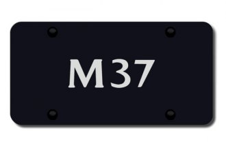 Autogold® - 3D Laser Etched M37 Logo on Black License Plate