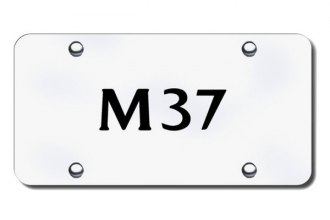 Autogold® - 3D Laser Etched M37 Logo on Brushed Stainless License Plate