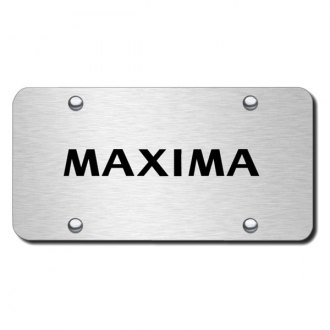 Autogold® - 3D Laser Etched Maxima Logo on Chrome License Plate