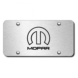 Autogold® - 3D Laser Etched Mopar Logo on Chrome License Plate