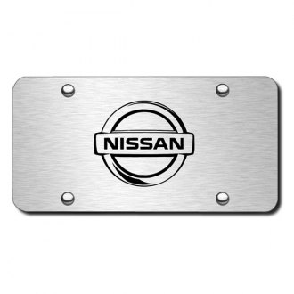 Autogold® - 3D Laser Etched Nissan Logo on Chrome License Plate