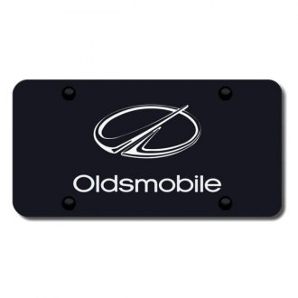 Autogold® - 3D Laser Etched Oldsmobile Logo on Black License Plate