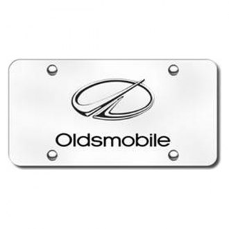 Autogold® - 3D Laser Etched Oldsmobile Logo on Chrome License Plate