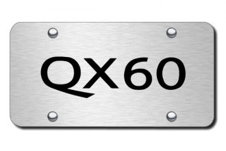 Autogold® - 3D Laser Etched QX60 Logo on Chrome License Plate