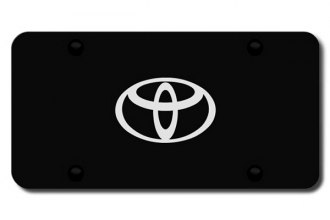 Autogold® - 3D Laser Etched Toyota (Only) Logo on Black License Plate