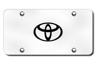 Autogold® - 3D Laser Etched Toyota Logo on Chrome License Plate