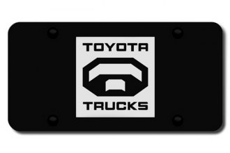 Autogold® - 3D Laser Etched Toyota Logo on Black License Plate