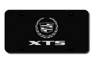 Autogold® - 3D Etched XTS Logo on Black License Plate