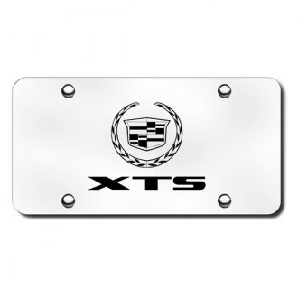 Autogold® - 3D Laser Etched XTS Logo on Brushed Stainless License Plate