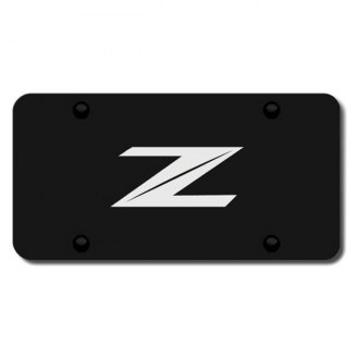 Autogold® - 3D Laser Etched Z Logo on Black License Plate