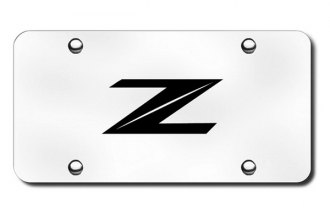 Autogold® - 3D Laser Etched Z Logo on Chrome License Plate