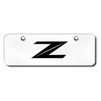 Autogold PL.Z2.ESM - Laser Etched Z Logo on Brushed Stainless Mini Size License Plate