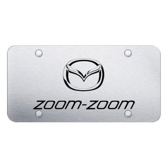 Autogold® - 3D Laser Etched Zoom Zoom Logo on Chrome License Plate