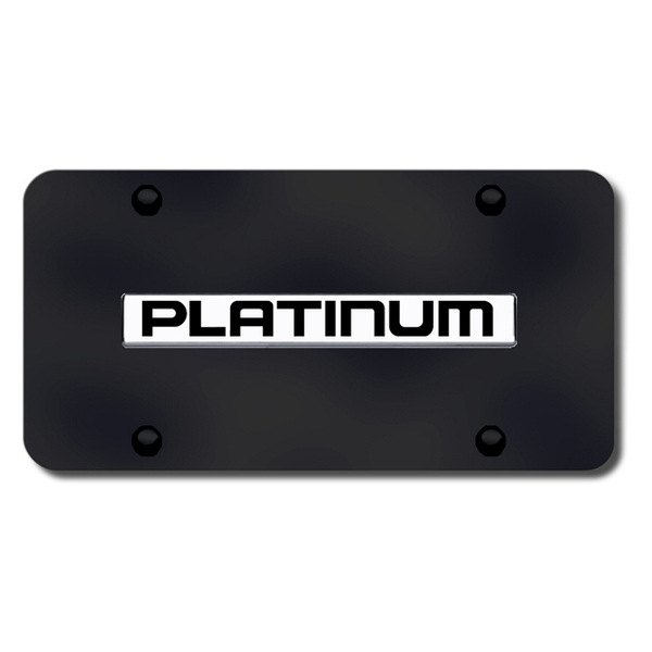 Autogold® - Platinum Name Logo on Black License Plate